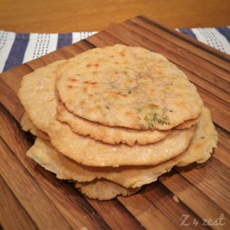 Stack of crunchy flatbreads