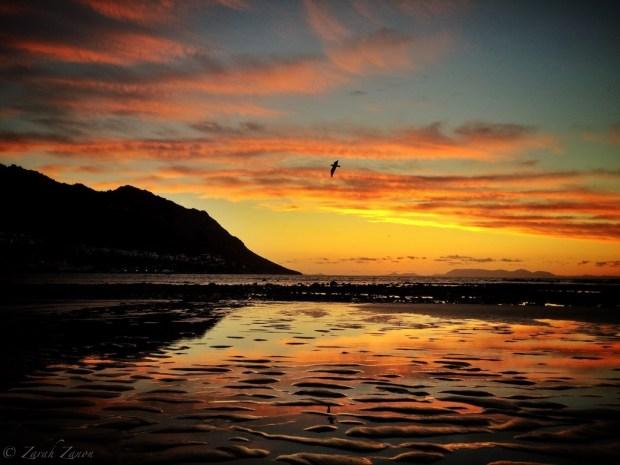 Gorgeous sunset at Gordon's Bay