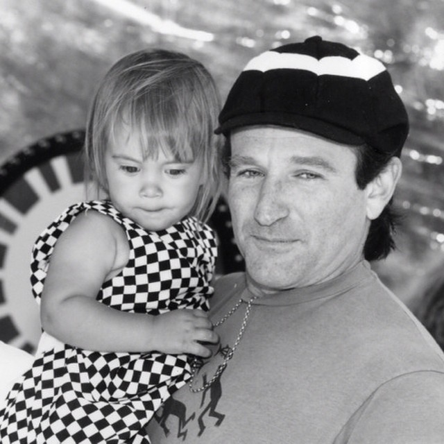 Robin Williams and daughter Zelda