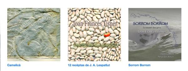 lo site de venta bandcamp de Joan Francés Tisnèr