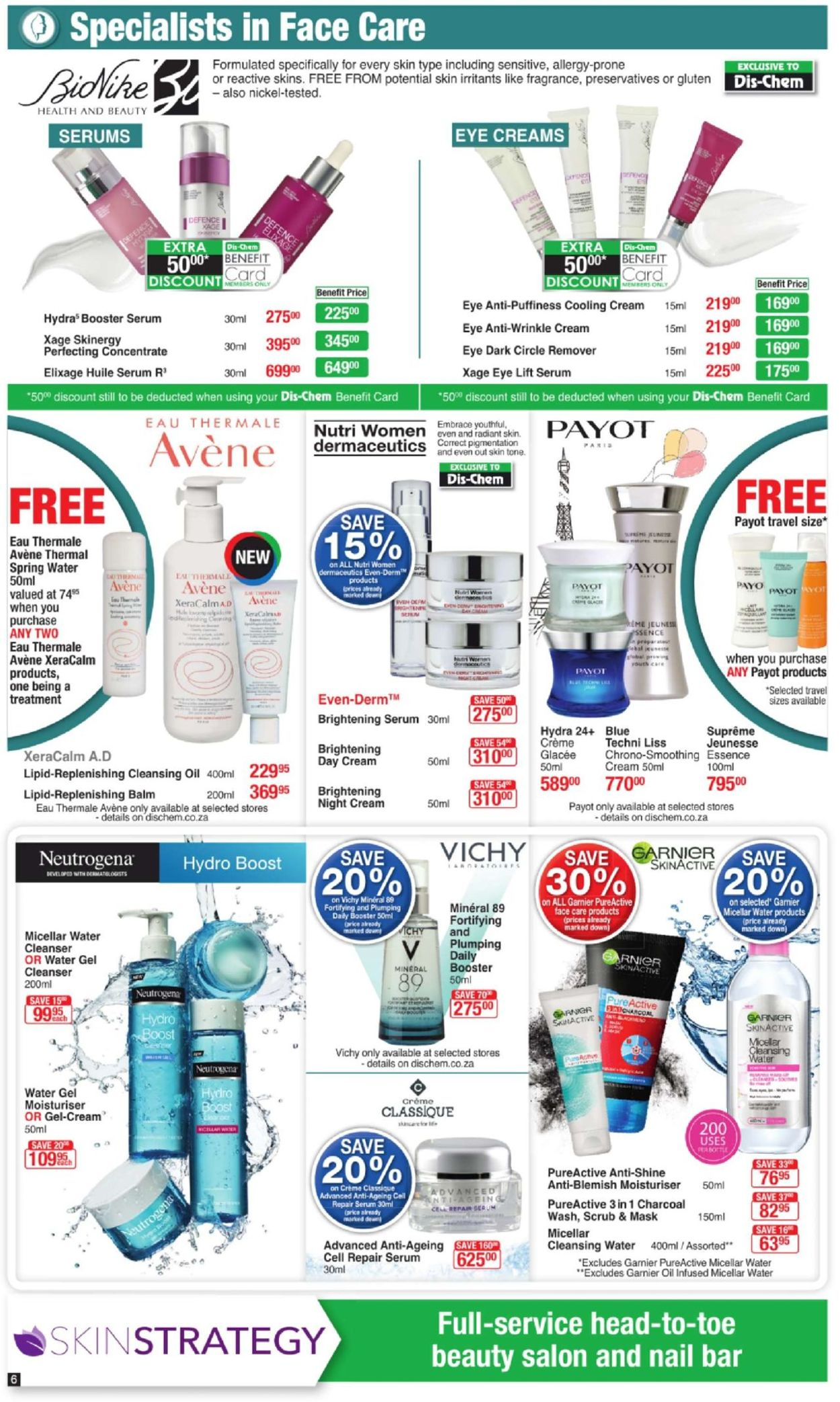 Care Payot Skin Products