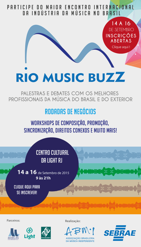 Zamus na Rio Music Buzz 2015 - Flyer