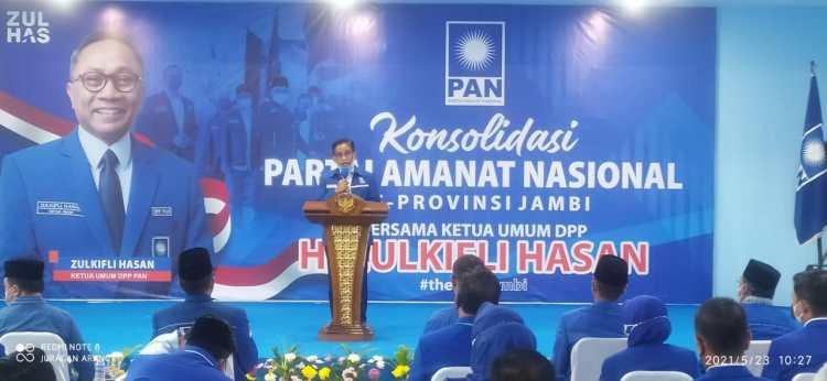 H. Bakri Sambutan di Konsolidasi PAN Jambi