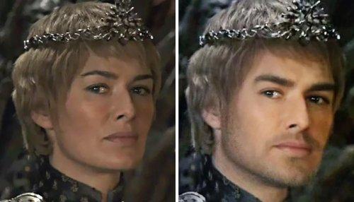 """Кто-то с помощью фильтров Snapchat изменил пол персонажей """"Игры престолов"""" (13 фото)"""