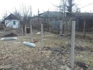 Установка столбов под рабицу в Харькове