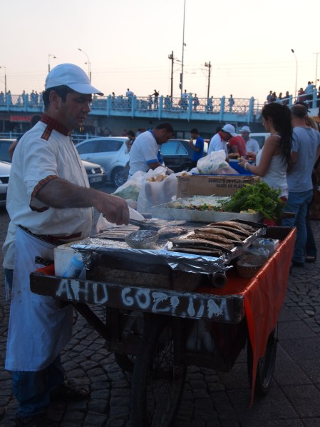 Fish sandwiches by the ferry
