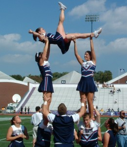 There are two shoulder stands in this stunt