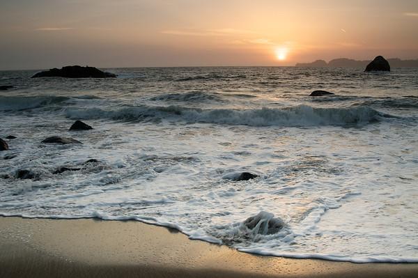 Sunset at San Francisco Beach