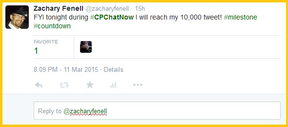 Countdown to my 10,000-tweet milestone