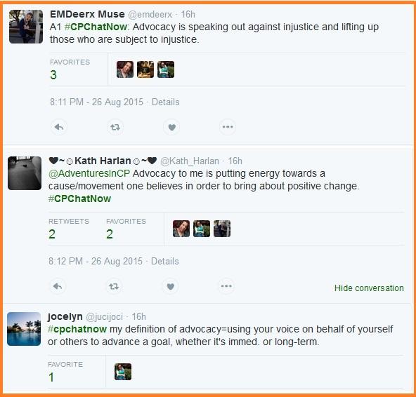 #CPChatNow participants explain what advocacy means to them.