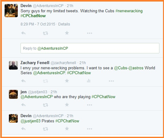 #CPChatNow plays second fiddle to the Chicago Cubs