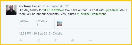 Focus chat tonight plus announcements!