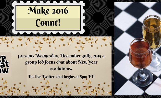 On Wednesday, December 30th #CPChatNow presents a focus chat about New Year resolutions.