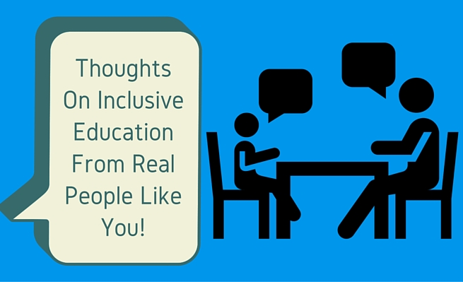 How do your thoughts on inclusive education compare?