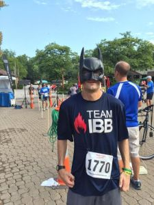 The Cerebral Palsy Vigilante after setting a new personal best at Helping Hands Hero Run 5k.