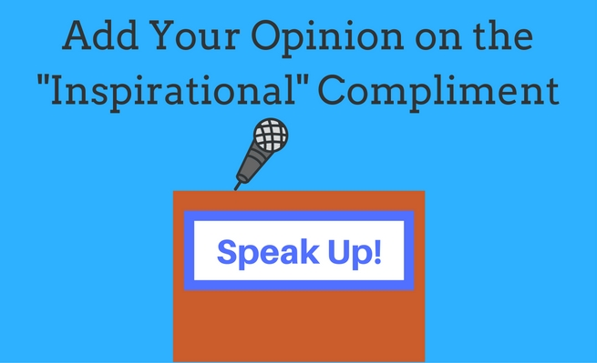Speak Up: Add Your Opinion on the inspirational compliment.