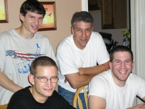 My brothers and I with our father on his birthday in 2006.