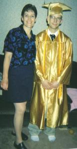 2005- Zachary with his mother following his high school graduation.