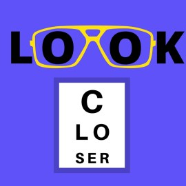 """""""Look closer,"""" a visual hint indicating a commonality at least 75% of the cerebral palsy population share."""