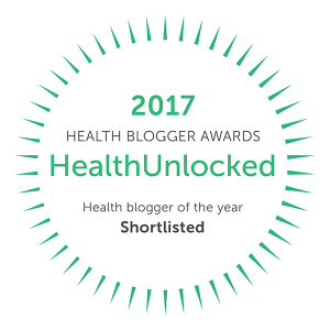 Zacharyfenell.com received nomination and made the shortlisted cut to be considered for HealthUnlocked's 2017 Health Blogger of the Year.