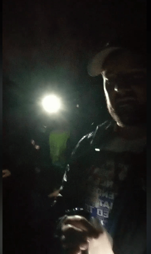 Zachary starting the 2018 Towpath Marathon in darkness.