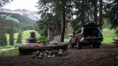 Camped Right Along the 401 with views of Mt. Baldy