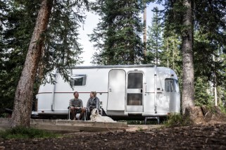 Recovering Outside the Airstream on Rabbit Ears Pass, CO