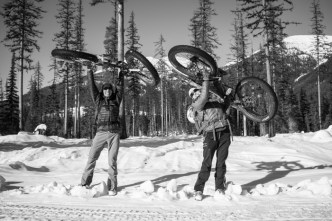 These Bikes Aren't Too Heavy... Even With Skis Attached