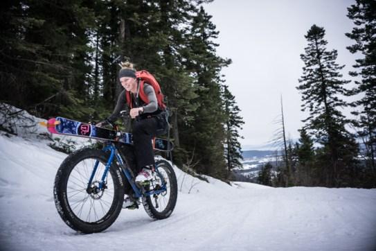 Grete Climbing Towards Greater Jewel Basin