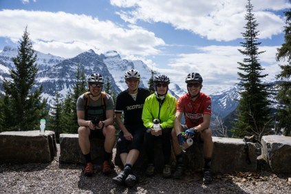 The Glacier Cyclery Crew (Pete, Ron, Jan, and Yours Truly)