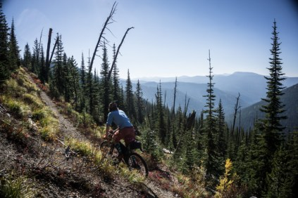 Joe Enjoying Trail No. 26 Views