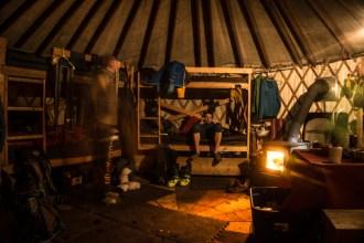 Yurt Evening Scene
