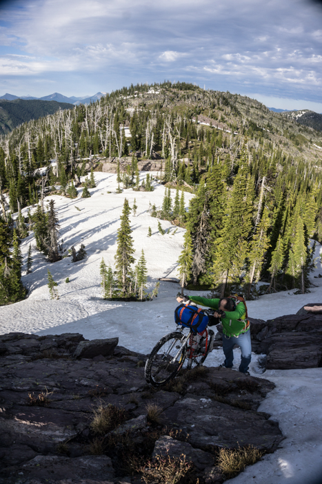 Off Trail Bootpacking with Bicycles