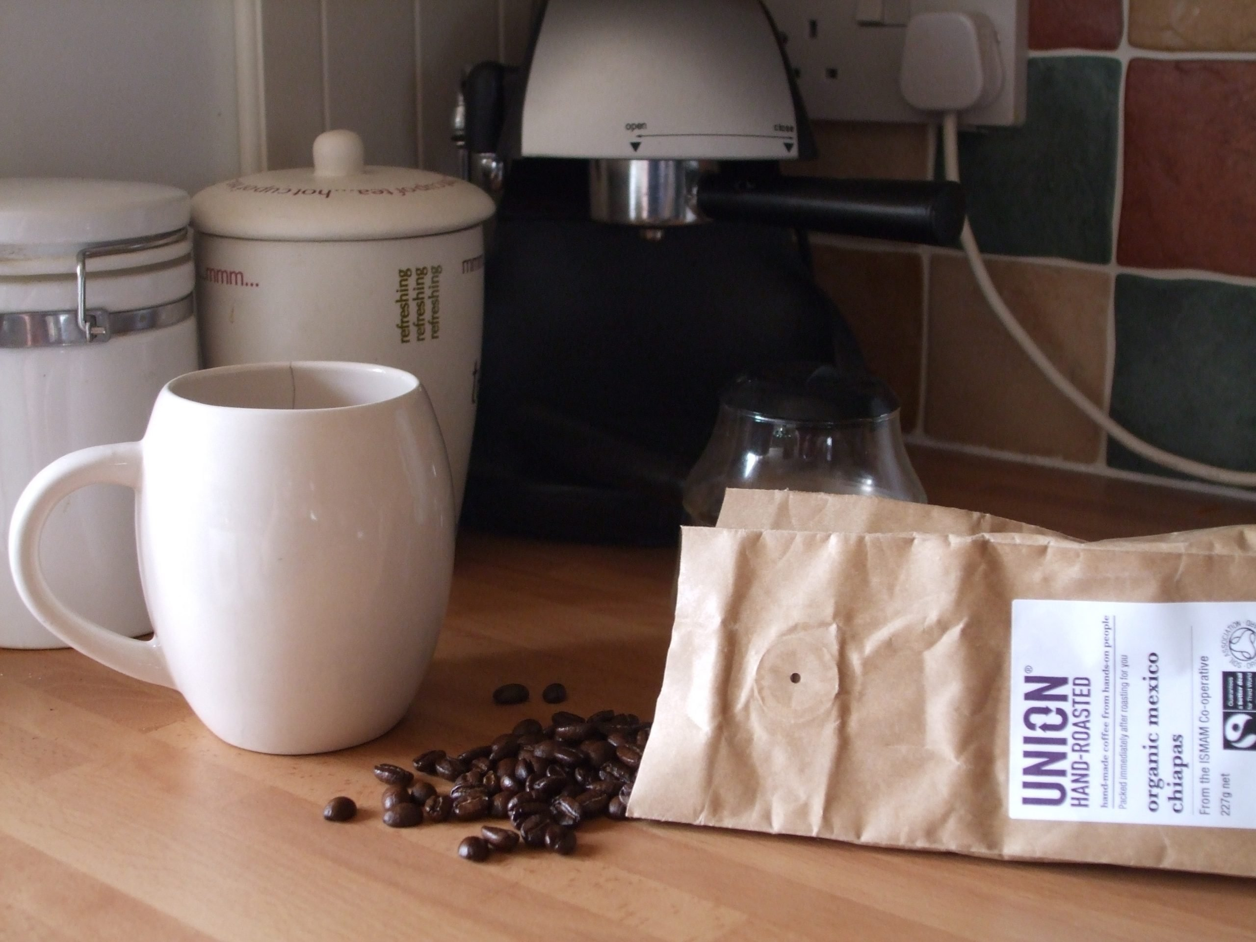 bag of Union Hand-Roasted beans