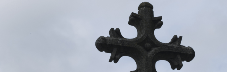 photo of a stone cross