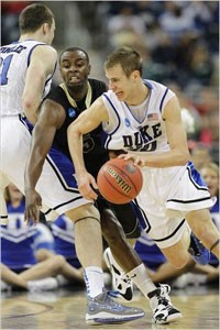 Duke's Jon Scheyer in the 2010 Sweet 16 - Photo from ESPN.com for personal non-commercial use