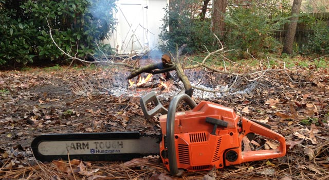 Chainsaw and Fire