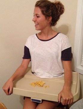 Hannah in a high chair