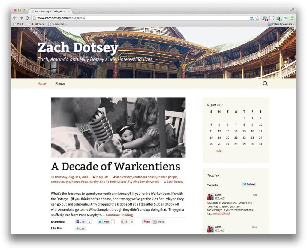 WordPress's Twenty Thirteen Theme