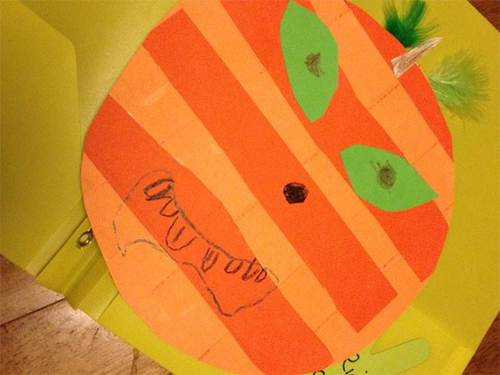 Construction Paper Pumpkin