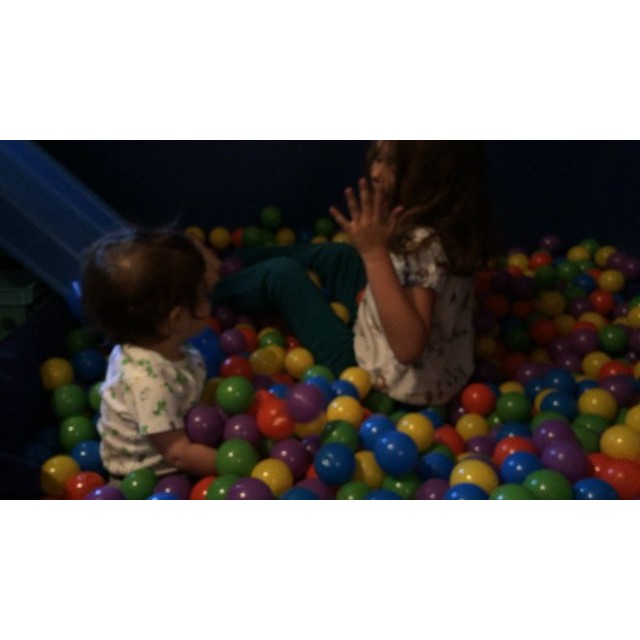 #Meliamae and @bashbash_one in the #ball pit #Yaaa!