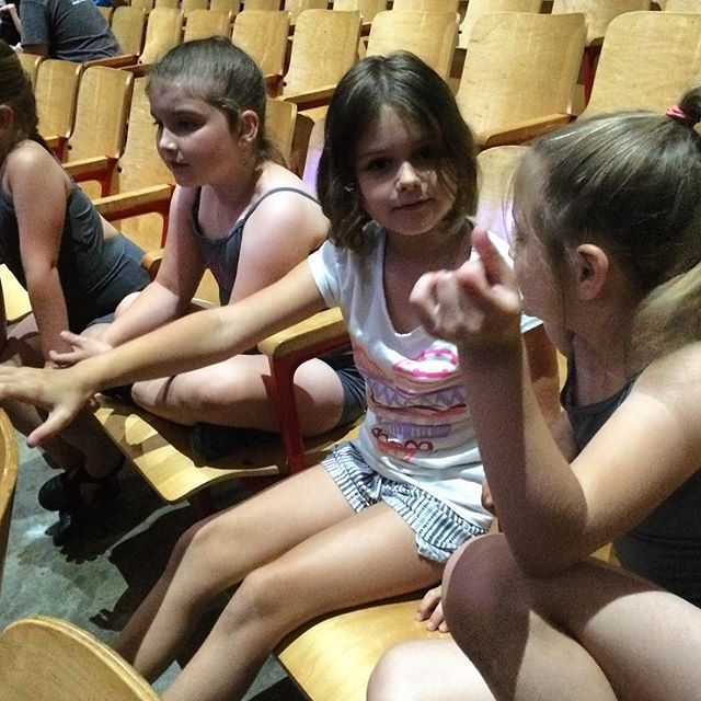 Listening to #Meliamae and her dance friends talk about how cute it is watching the younger girls dance at recital practice is #metacute.