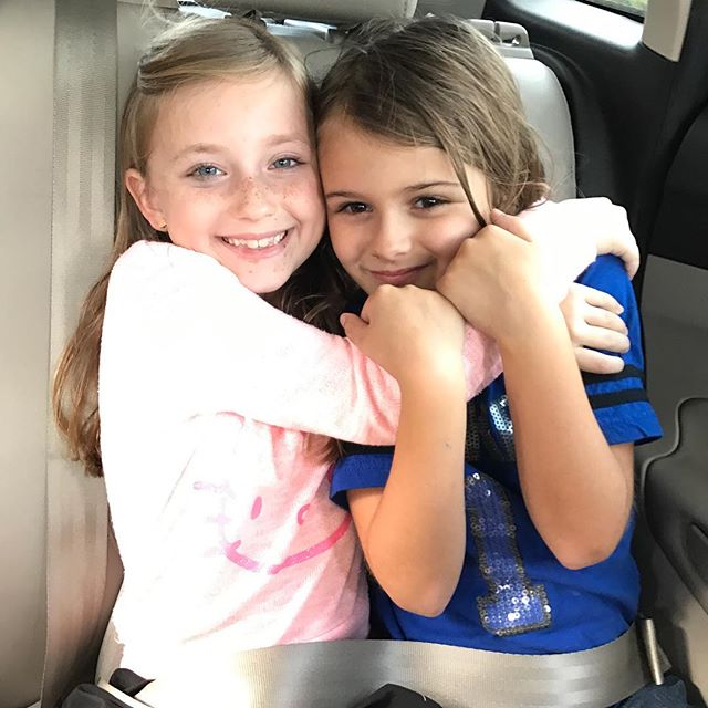 #Meliamae hanging out with Cousin Addy. #cutecousins #cuzcuz The one that's shorter is actually older. (They instructed me on how to caption this photo.)