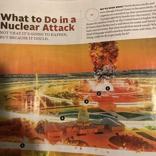 """""""Oh cool,"""" I thought. """"Milly's taken it upon herself to read a cool article in Popular Mechanics."""" At least I thought it was cool until I finished reading Harry Potter while putting her to bed then she starts getting upset and asking me about nuclear annihilation. #ThanksPopularMechanics #Meliamae"""