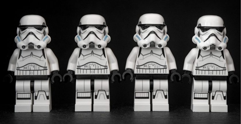 Stormtroopers all look the same, except for one who is a little short...