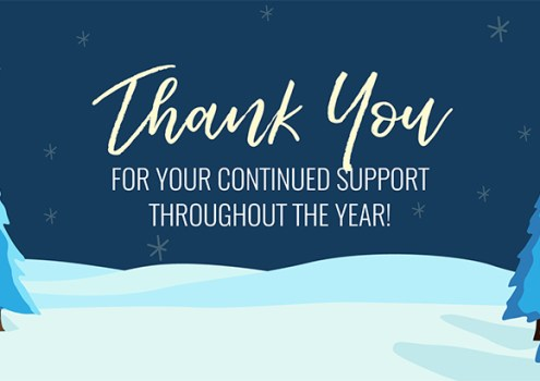 Thank You for All Your Support