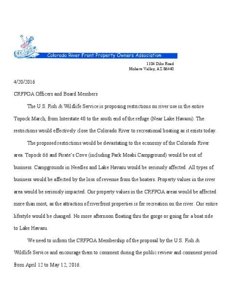 2016-Larry s letter to CRFPOA board-Havasu river    restrictions-page-001