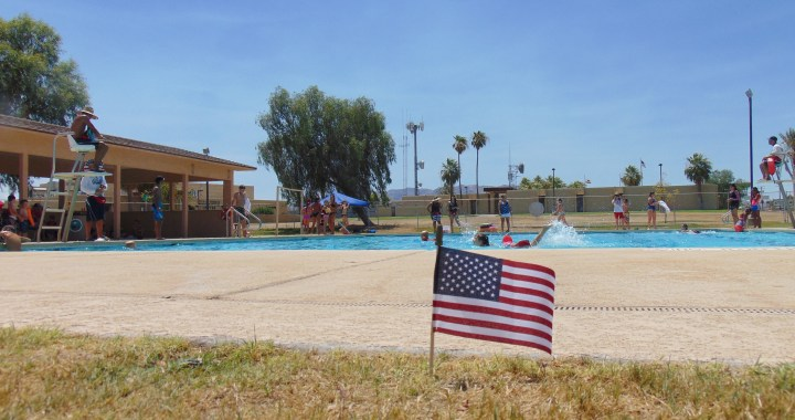 Needles, CA: Free Independence Day Celebration today at the Needles Aquatics Center thanks to the Needles B.P.O. Elks Lodge 1608.