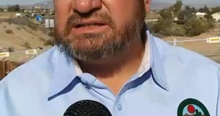 Live News Update: Needles, CA: Needles City Council Member Shawn Gudmundson provides latest information regarding water line break underneath Lillyhill Drive bridge.