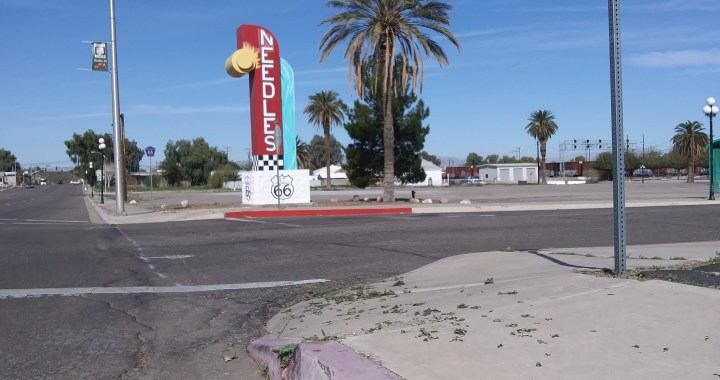 News Alert: Downtown Needles, CA: Investigation underway on who scattered along streets marijuana trimmings taken from a cannabis cultivation trash bin.